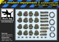 BLACK DOG T72010 - 1:72 US modern equipment 2 accessories set