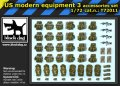 BLACK DOG T72011 - 1:72 US modern equipment 3 accessories set