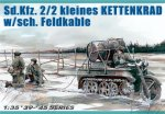 German Sd.Kfz.2/2 Kettenkrad w/sch.feldkable (Немецкий полугусеничный мотоцикл Sd.Kfz.2/2 с кабелем) .