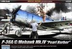 ACADEMY 12238 - 1:48 Curtiss P-36A/C/Mohawk Mk.IV - Pearl Harbor