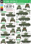 BISON DECALS 35134 - 1:35 Spanish Civil War - Republican T-26 and BT-5 tanks