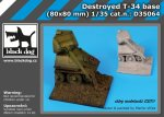 BLACK DOG D35064 - 1:35 Destroyed T 34 base (80 x 80 mm)