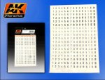 AK INTERACTIVE 112 - 1:72 German Numbers Black