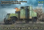 MASTER BOX 72007 - 1:72 British Armoured Car Austin MK III WW I Era