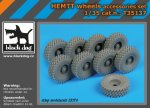 BLACK DOG T35137 - 1:35 HEMTT wheels accessories set