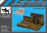 BLACK DOG D72027 - 1:72 Wall with gate N°2 base (150 x 90 mm)