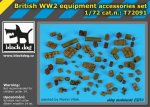 BLACK DOG T72091 - 1:72 British WW II equipment accessories set