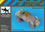 BLACK DOG T72090 - 1:72 Sd.Kfz.222 accessories set