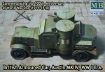 MASTER BOX 72008 - 1:72 British Armoured Car Austin MK IV WW I Era