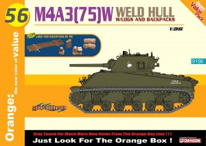 DRAGON / CYBER HOBBY 9156 - 1:35 M4A3(75)W Weld Hull + Logs And Backpacks