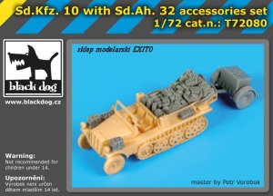 BLACK DOG T72080 - 1:72 Sd.Kfz.10 with Sd.Ah.32 accessories set