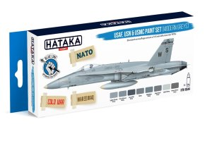 HATAKA BS44 - USAF, USN & USMC paint set (modern greys)