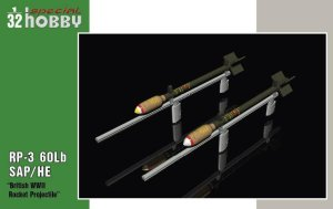 SPECIAL HOBBY 32075 - 1:32 RP-3 60Lb SAP British WWII Rockets