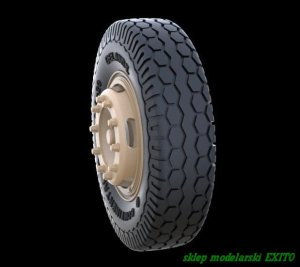 PANZERART 35245 - 1:35 Road Wheels for Mercedes 4500 (Late Pattern)