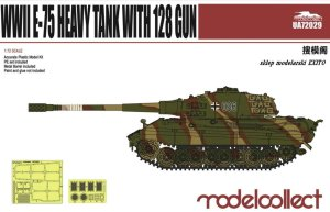 MODELCOLLECT UA72029 - 1:72 WWII E-75 Heavy Tank with 128mm gun
