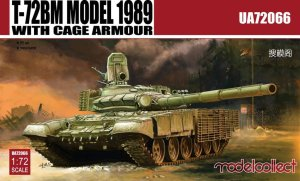 MODELCOLLECT UA72066 - 1:72 T-72BM Model 1989 with cage armour