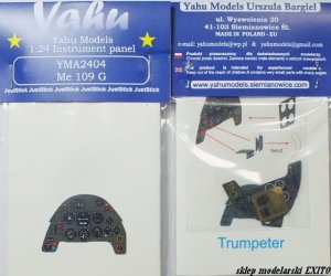 YAHU YMA2404 - 1:24 Messerschmitt Me 109 G - Instrument Panel