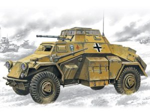 ICM 72411 - 1:72 Sd.Kfz.222 German Light Armoured Vehicle