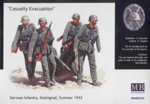 MASTER BOX 3541 - 1:35 Casualty Evacuation, German Infantry Stalingrad Summer 1942
