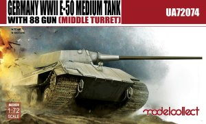 MODELCOLLECT UA72074 - 1:72 Germany WWII E-50 Medium Tank with 88 Gun (Middle Turret)