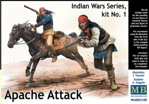 MASTER BOX 35188 - 1:35 Apache Attack - Indian Wars Series kit No.1