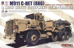 MENG MODEL SS013 - 1:35 US M911 C-HET (8x6) & M747 Heavy Equipment Semi-Trailer