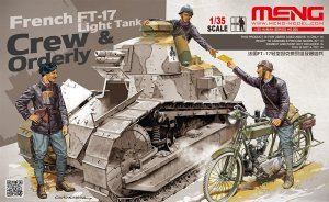 MENG MODEL HS005 - 1:35 French FT-17 Tank Crew & Orderly