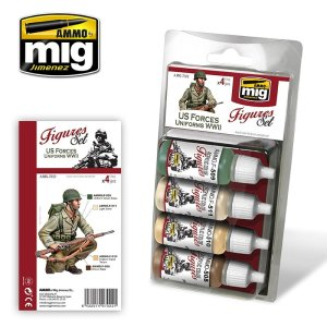 AMMO MIG 7022 - US Forces Uniforms WWII - Figures Set