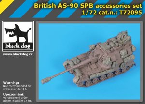 BLACK DOG T72095 - 1:72 British AS-90 SPB accessories set