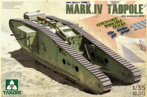 TAKOM 2015 - 1:35 Mark IV Tadpole with Rear Mortar - WWI Heavy Tank