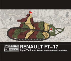 FLYHAWK 3000 - 1:72 Renualt FT-17 Light Tank (Cast turret) 1+1