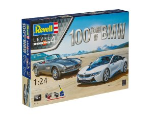 REVELL 05738 - 1:24 BMW 507 Cabrio & BMW i8 - Gift-Set 100 Years of BMW