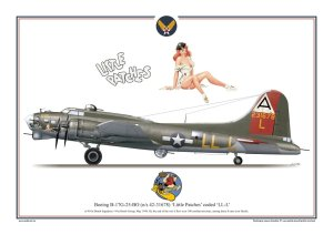 Exito 007 - Plakat B-17 G Flying Fortress - Little Patches
