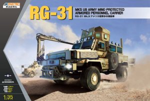KINETIC 61015 - 1:35 RG-31 Mk.5 US Army Mine Protected Armored Personel Carrier