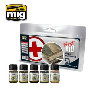 AMMO MIG 7448 - First Aid Basic Pigments - Pigment Set 5 x 35 ml