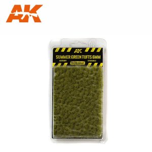 AK INTERACTIVE 8120 - Summer Green Tufts 6 mm - kępy traw 6 mm