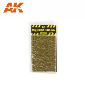 AK INTERACTIVE 8119 - Mixed Green Tufts 6 mm - kępy traw 6 mm