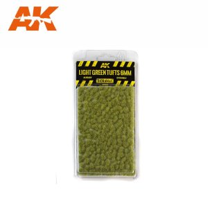 AK INTERACTIVE 8118 - Light Green Tufts 6 mm - kępy traw 6 mm