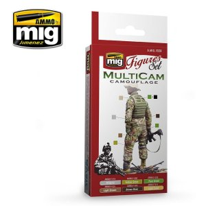 AMMO MIG 7028 - Multicam Camouflage - Figures Set 6 x 17 ml