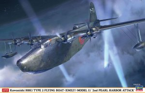 HASEGAWA 02311 - 1:72 Kawanishi H8K1 Type 2 Flying Boat Emily Model 11 2nd Pearl Harbour Attack
