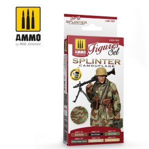 AMMO MIG 7029 - Splinter Camouflage - Figures Set 6 x 17 ml