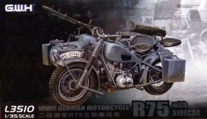GREAT WALL HOBBY 3510 - 1:35 WWII German BMW R75 with Sidecar