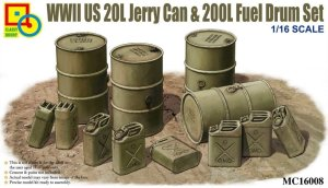CLASSY HOBBY 16008 - 1:16 WWII US 20L Jerry Can & 200L Fuel Drum set