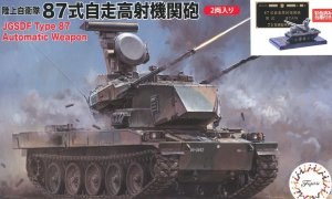FUJIMI 723099 - 1:72 JGSDF Type 87 Self-Propelled Anti-Aircraft Gun w/Painted Pedestal for Display