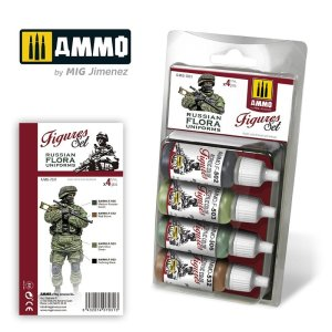 AMMO MIG 7031 - Russian Flora Uniforms - Figures Set 4 x 17 ml