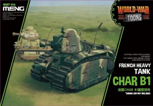 MENG MODEL WWT016 - World War Toons Char B1 French Medium Tank