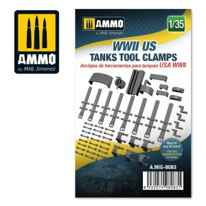 AMMO MIG 8083 - 1:35 WWII US tanks tool clamps
