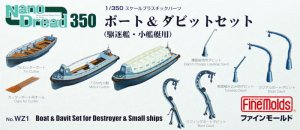 FINE MOLDS WZ1 - 1:350 Boats & Davits set for model kits  (Destroyer and other small ships)