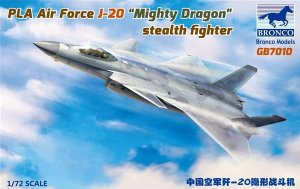 BRONCO GB 7010 - 1:72 PLA Air Force J-20 Mighty Dragon Stealth Fighter