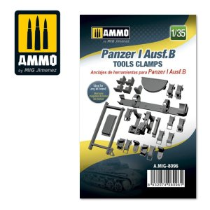 AMMO MIG 8096 - 1:35 Panzer I Ausf.B Tools Clamps
